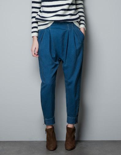 Denim Harem pants / Zara