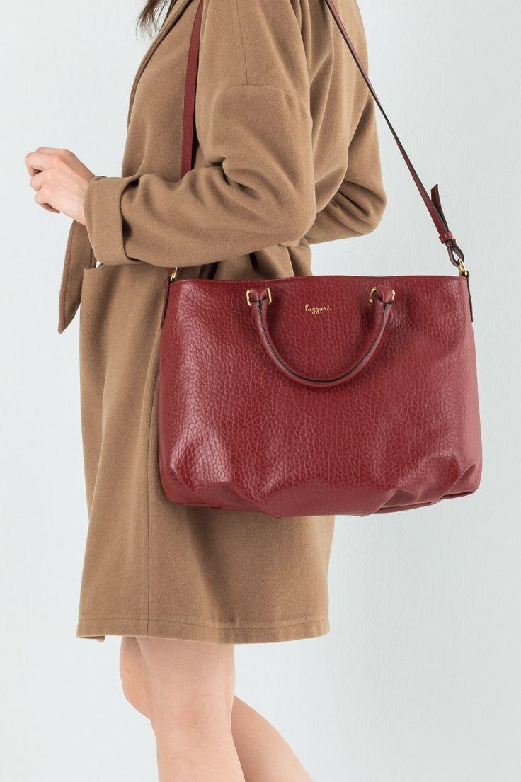 Borsa grande con manico e tracolla Abbigliamento Donna Made in Italy