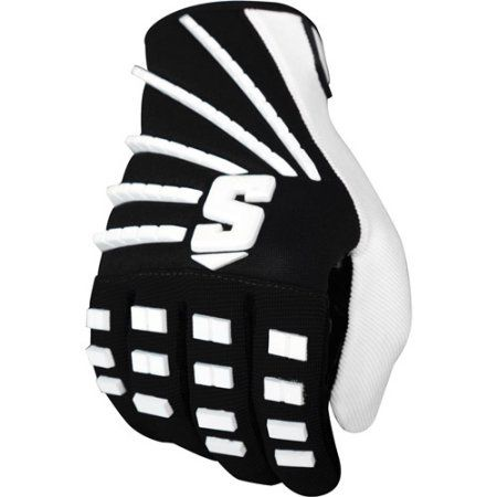 Schutt ION Red RB/WR Football Glove, Black