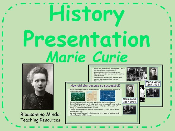 History Presentation - Marie Curie