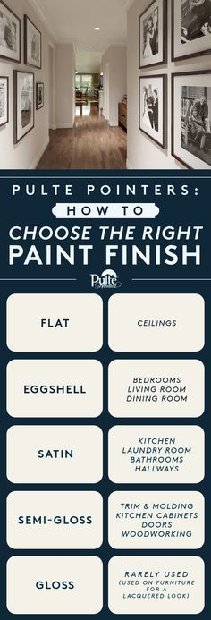 Flat, satin or semi-gloss? These helpful tips will help you choose the right paint finish, whether you're adding color to walls, ceilings or trim. | Pulte Homes