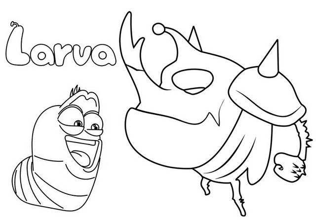 Pin By Pengadaan Indonesia On Larva Cartoon Animation Coloring Pages Coloring Pages Kind Kids Coloring Pages For Kids