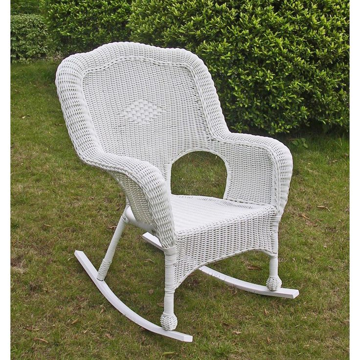 The ideal rocking-chair to sit out on your verandah or porch, this quaint PVC resin rocker is utterly comfortable and reliably durable. With a powder coated steel frame you can be sure this rocking chair will give you many years of comfort.