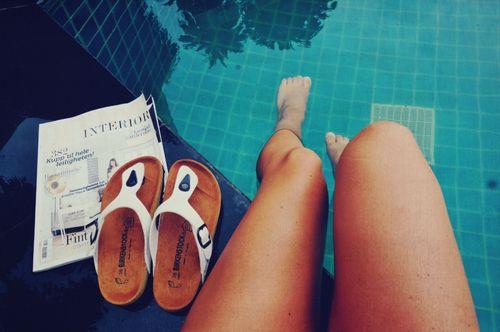 those pool days.