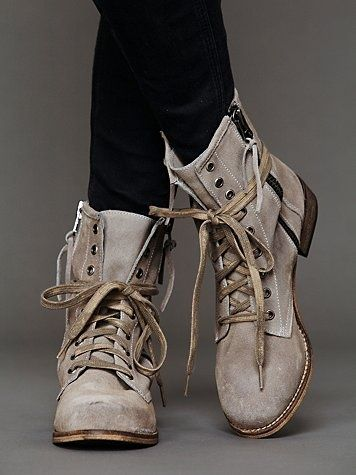 Greyson Lace Up Boot. - Click image to find more Women's Fashion Pinterest pins