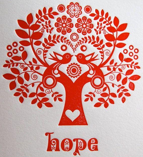 Estilo tipográficas tarjeta de Navidad Folk por fluidinkletterpress