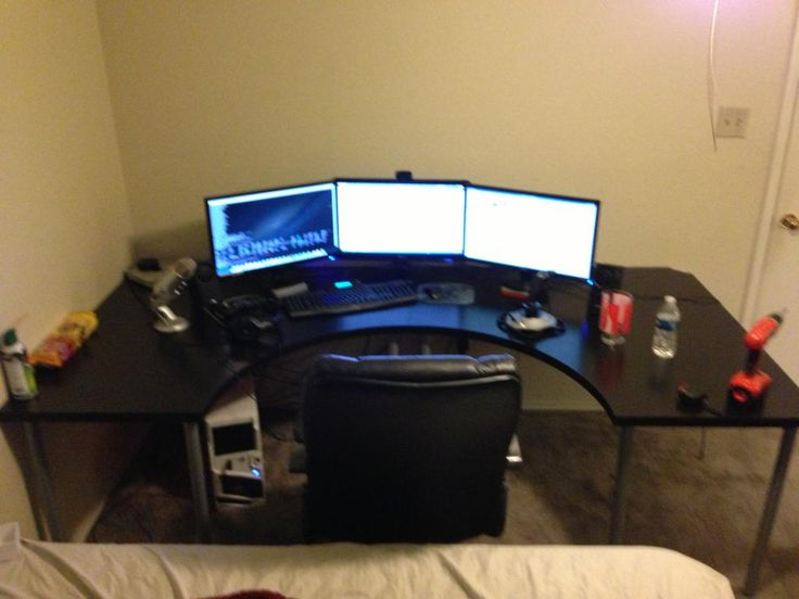 Best Gaming Corner Desk - organization Ideas for Small Desk Check more at http://www.gameintown.com/best-gaming-corner-desk/
