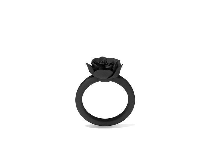Anel fosco, em impressão de nylon na cor preto, produzido em material maleável e resistente nos tamanhos P | M | G | GG. #FujaDoTédio #UseNoiga #MadeInBrasil #3DPrint #Noigando
