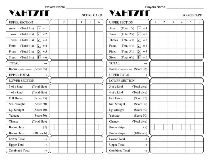 25+ Best Yahtzee Rules Ideas On Pinterest | Play Yahtzee, Big