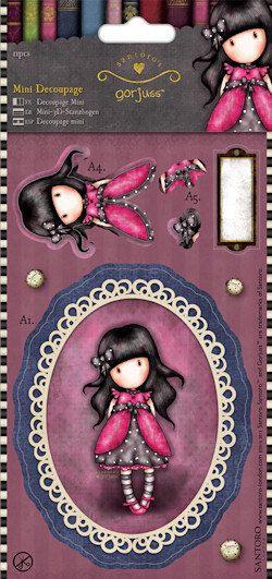 Ladybird  Gorjuss Mini Die Cut Decoupage Twin by Pituchasplace