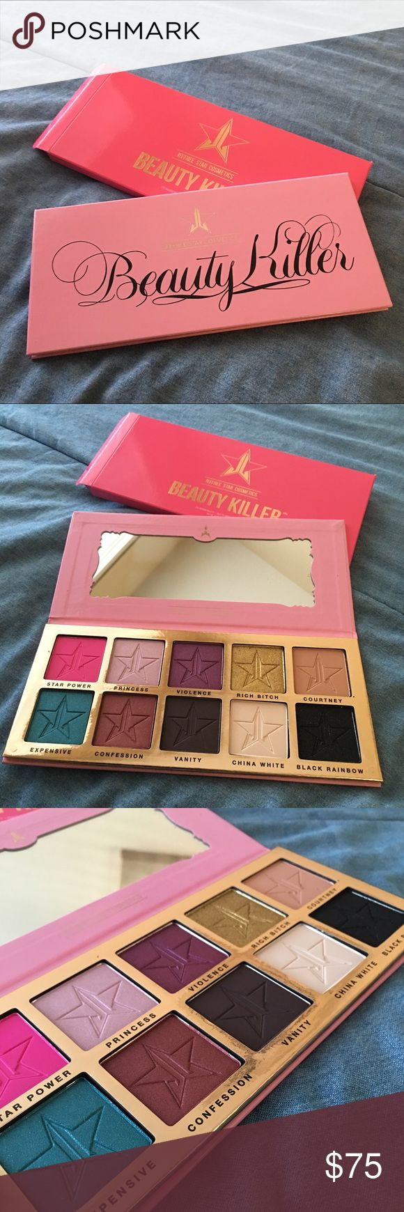 Jeffrey Star Cosmetics Beauty Killer Palette Selling Jeffree Star's new Beauty Killer palette. This is brand new and hasn't been touched just opened so I can show the colors. It comes with 10 beautiful shades, 7 mattes and 3 shimmers. Will ship in 1 - 3 days when purchased :) Jeffree Star Cosmetics Makeup Eyeshadow
