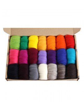 Corridale Roving Pack 21 Colours Bright