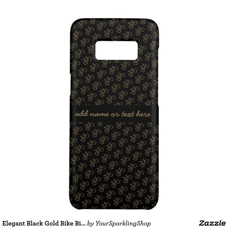 Elegant Black Gold Bike #Bicycle #Pattern Cycling Phone Case
