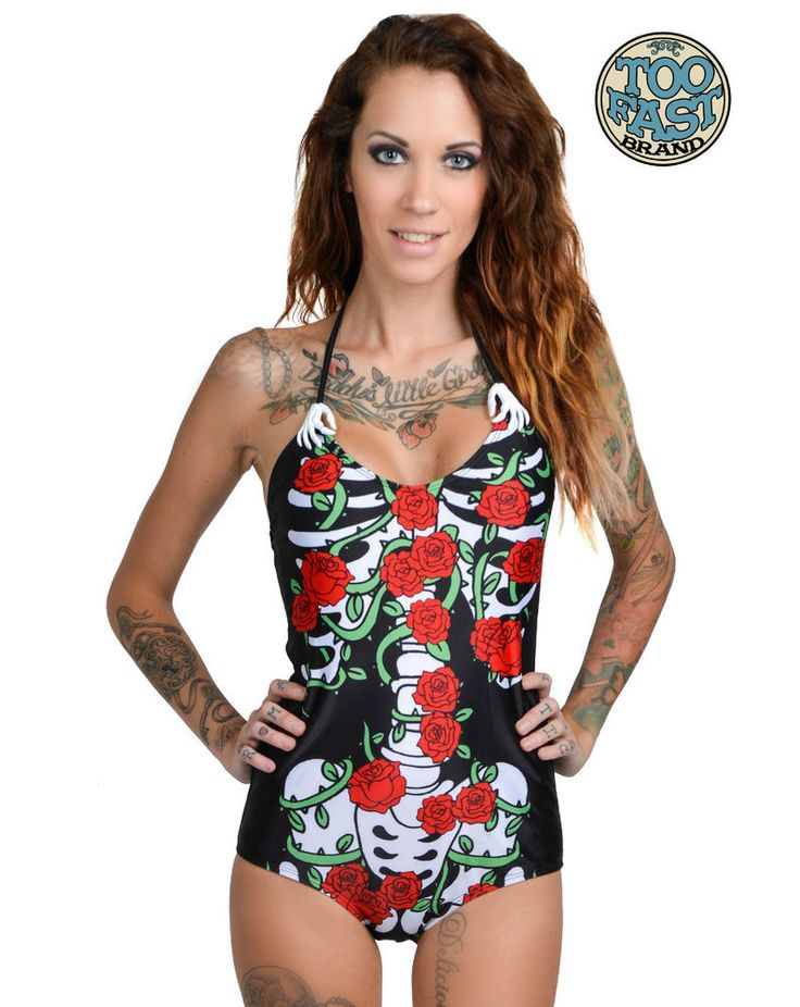 Details about Rockabilly Black Boyleg Swimsuit Size 12 Retro 50's Pin Up One Piece Maillot NEW
