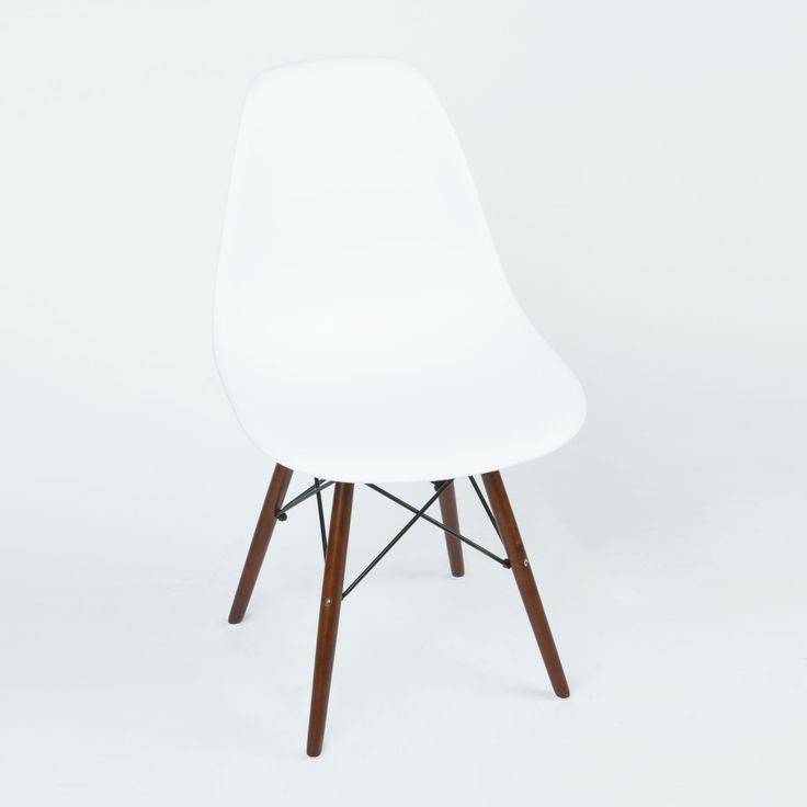 Walnut Slope Chair in White | dotandbo.com