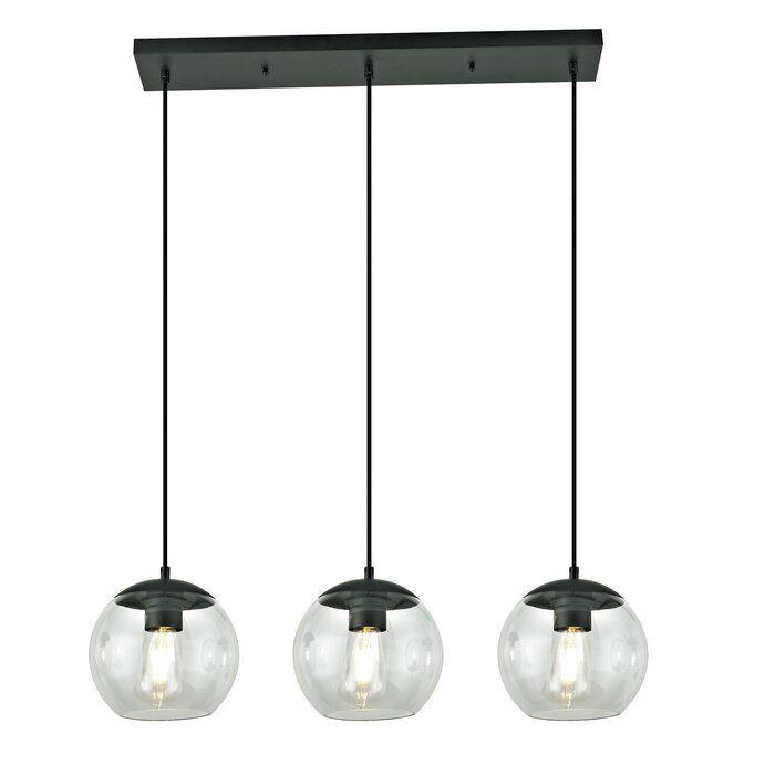 Thursa 3 Light Kitchen Island Globe Pendant Glass Pendant Light Globe Pendant Mid Century Light Fixtures
