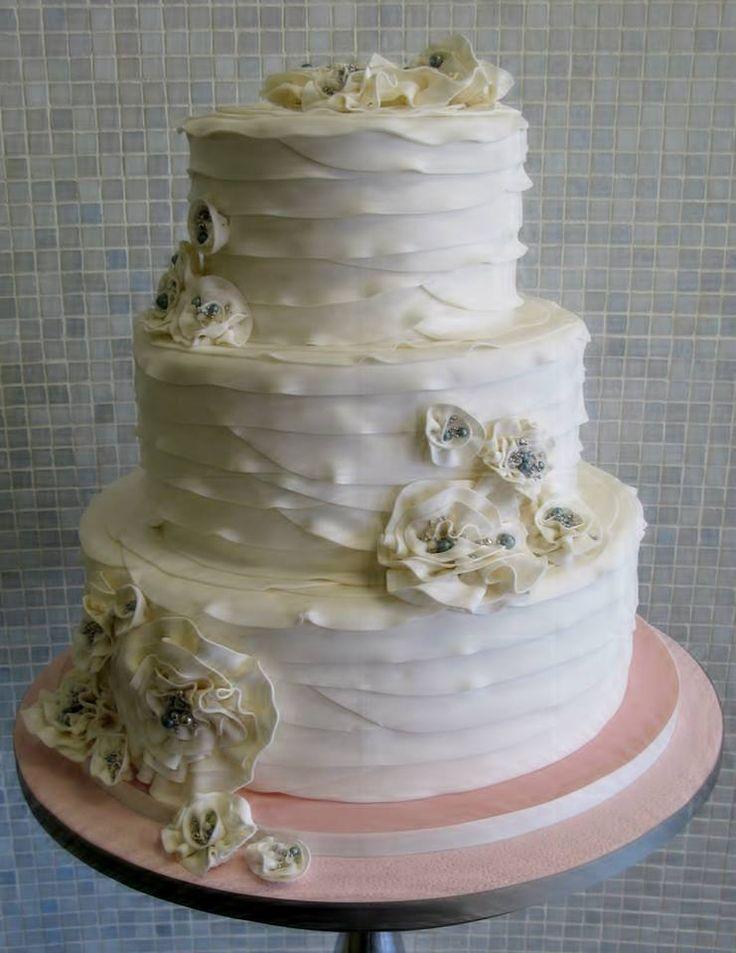 Fondant ruffle wedding cake   Wedding Cakes   Pinterest - photo#29