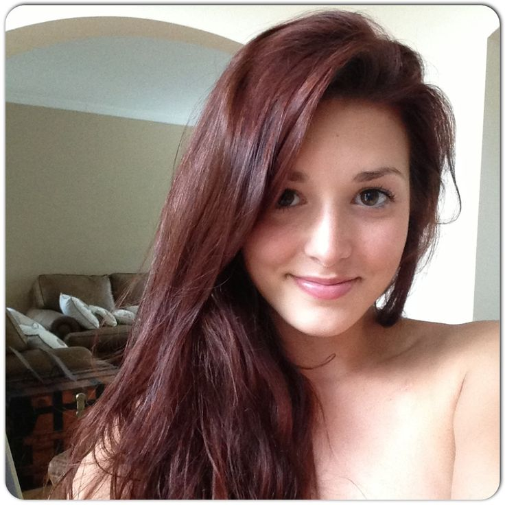 My result of John Frieda 4R Dark Red Brown :) I love it!!