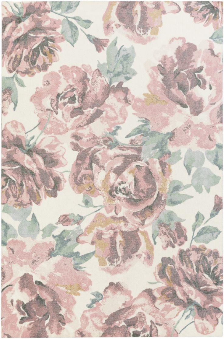 Corrigan Floral Rug, Blush