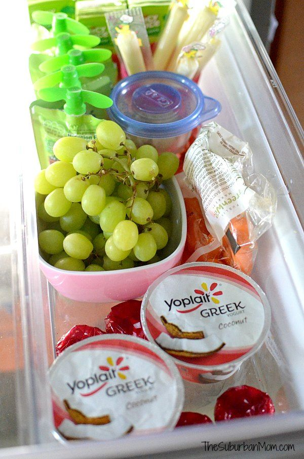 Want kids to choose healthy snacks? Make it easy with a healthy snack drawer filled with options like Yoplait yogurt, fresh fruit, cheese & more.