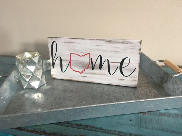 Home State Outline Rustic Wood Sign/State Sign/Home State Sign/Hand Painted Wood Sign by KobersCreations on Etsy https://www.etsy.com/listing/516093681/home-state-outline-rustic-wood-signstate