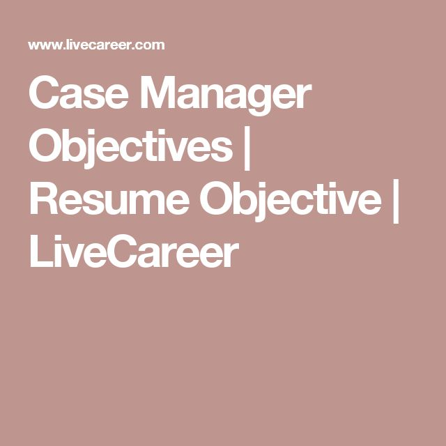 Best 25+ Good resume objectives ideas on Pinterest Professional - project management career objective