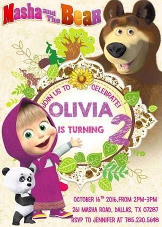 Resultado de imagen para cumpleaños tematico masha y el oso