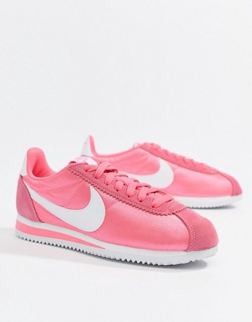 reputable site ab0cf 9dab1 Nike Pink With Swoosh Suede Cortez Trainers   Clothes, Shoes ...