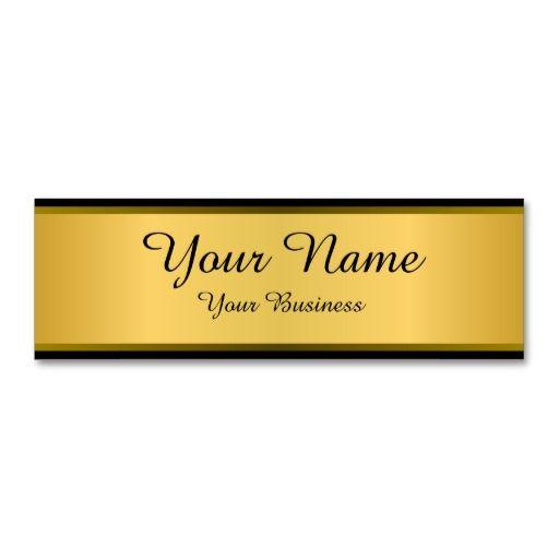 Minimalist Golden Business Cards