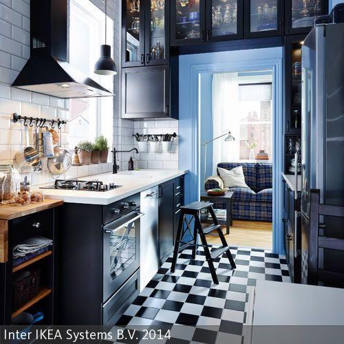 65 best Küche Allgemein images on Pinterest Home decor, Kitchen - ikea kuche schwarz weiss