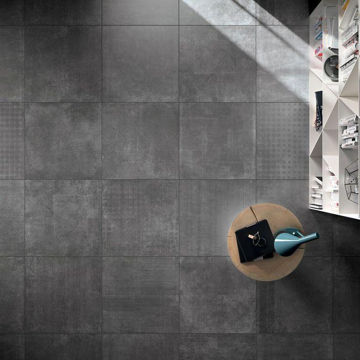 La collezione PAPIER di ABK racchiude un universo di segni grafici geometrici, fantasie astratte, dal sapore vagamente retrò. #floor Antracite 60x60cm Per tutti i prodotti visita il nostro sito www.abk.it #abkemozioni #ceramica #cool #ceramics #design #tile #gres #porcellanato