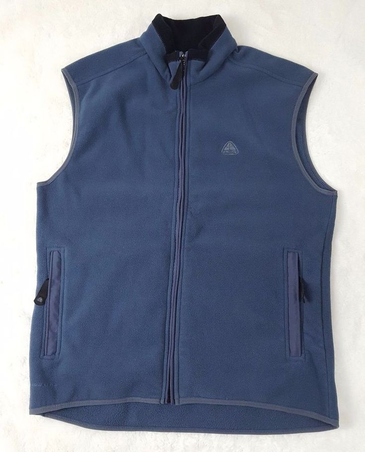 Nike Fleece Vest Womens Size XL Thermafit Fitted ACG Thermal Layer Zip Up  #Nike #ACG #Vests   #thermal #thermafit #athletic #vest #womensapparel #style #apparel