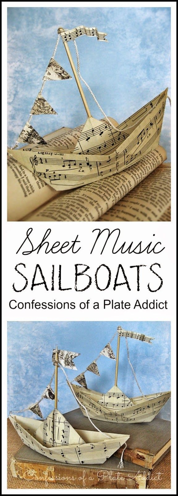 CONFESSIONS OF A PLATE ADDICT: Summery Sheet Music Sailboats