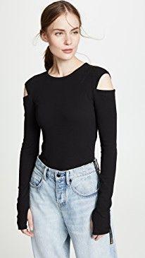 b0e2a810024 Helmut Lang Slash Long Sleeve Tee 2019 in 2019   Women Clothing ...