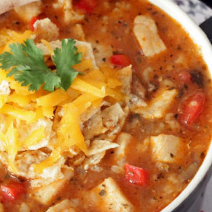 Tex-Mex Chicken and Rice Soup Recipe
