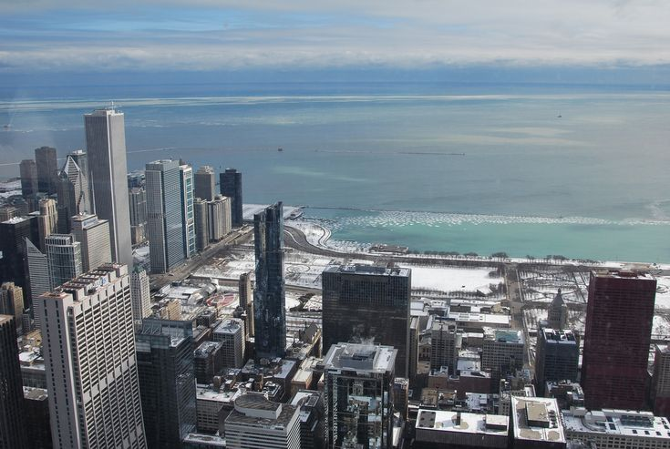 Chicago & Lake Michigan seen from Willis Tower