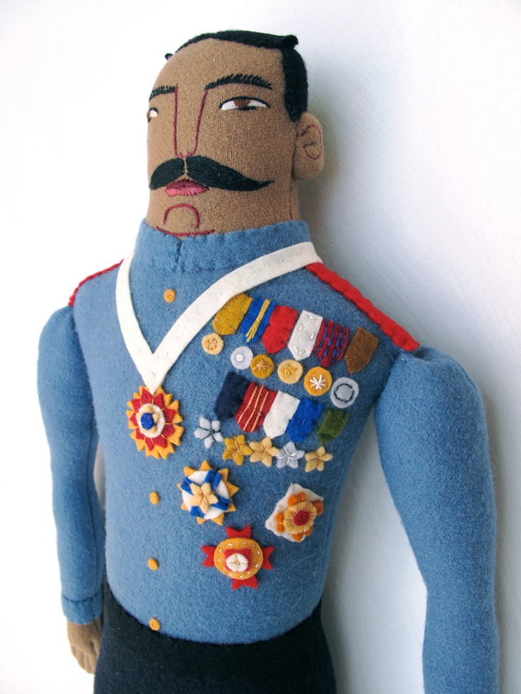 Military Man with Medals doll. $300.00, via Etsy.