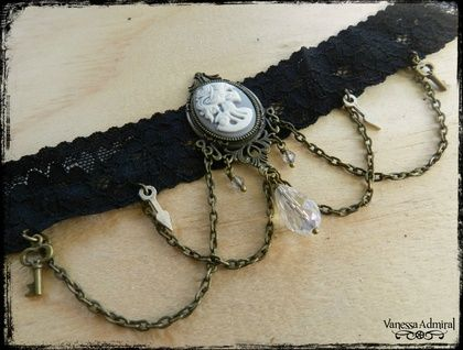 Gothic Style Victorian Skeleton Lady Choker
