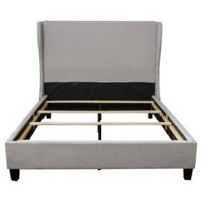 Vernon Wingback Bed - California King - Light Grey - Christopher Knight Home : Target