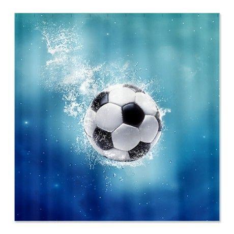 Soccer Water Splash Shower Curtain