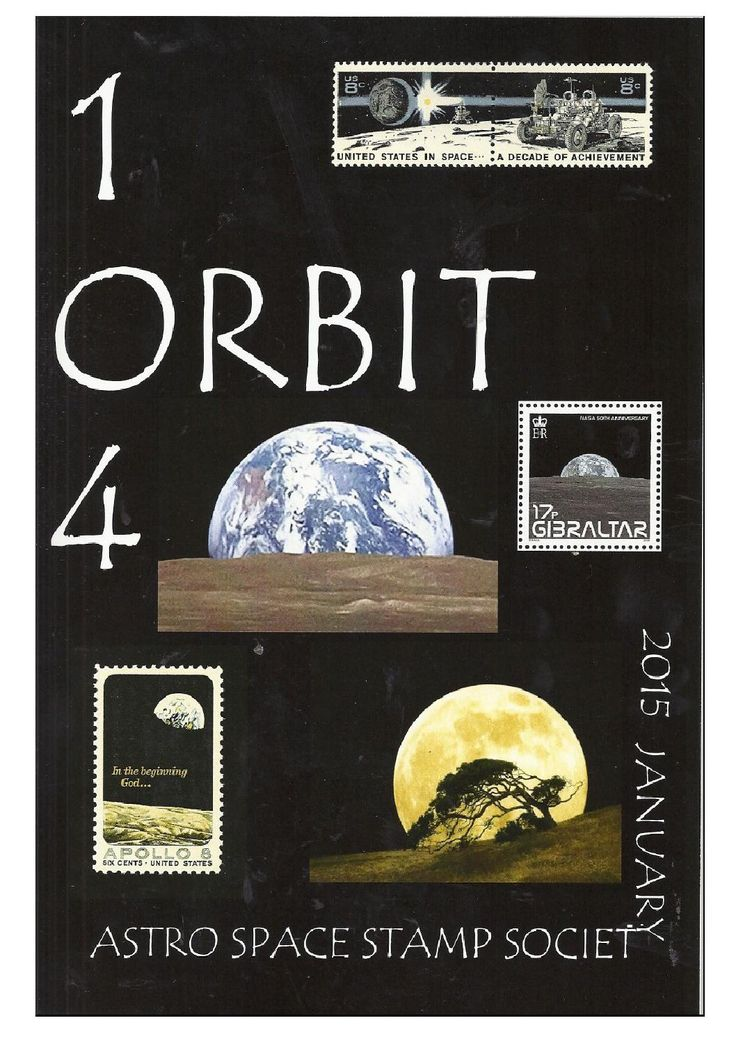 Orbit issue 104 preview (January 2014)  ORBIT is the official quarterly publication of The Astro Space Stamp Society, full of illustrations and informative space stamp and space cover articles, postal auctions, space news, and a new issues guide.