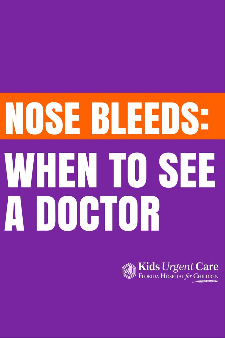 When do I see a doctor about my child's nose bleeds? #nosebleed #centricare #pediatrics
