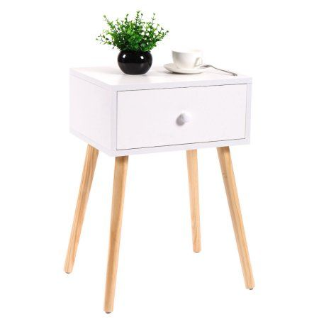 Free Shipping. Buy Wood Storage Coffee Tea Table End Table With Drawer Modern Living Room Furniture at Walmart.com