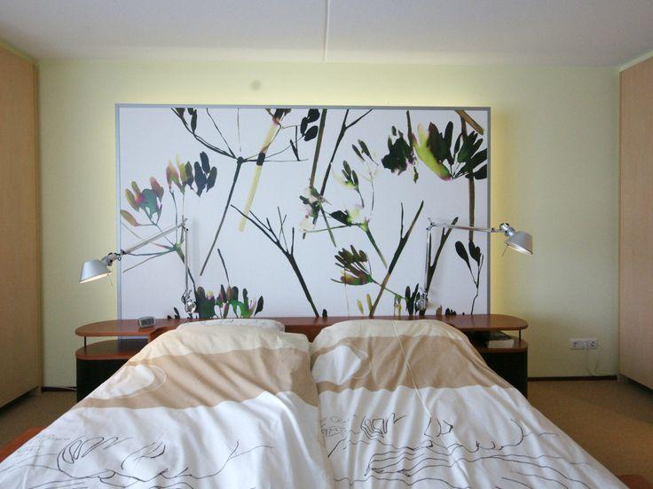 slaapkamer ontwerp, hoofdeinde bed ---- bedroom design, headboard bed