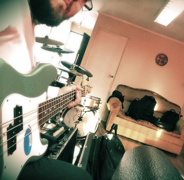 Recording Bass - Falling From The Bigger Star (2018) by The Orange Rocket