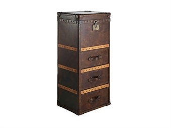 Winchester Tall Chest - Bay Leather Republic.. how quirky and good looking!