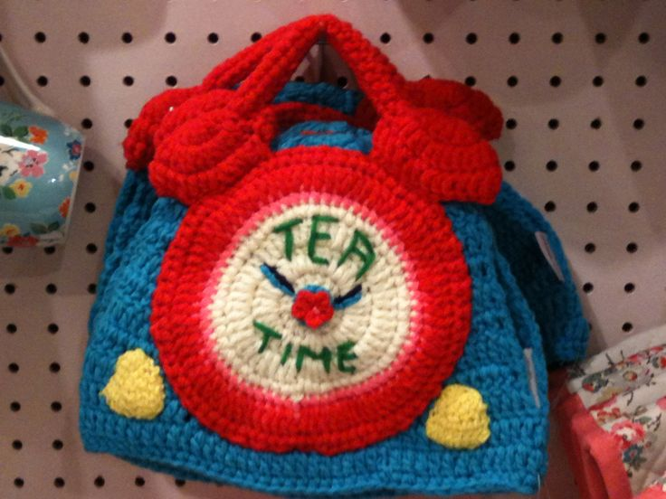 Cute hand knitted tea cosy