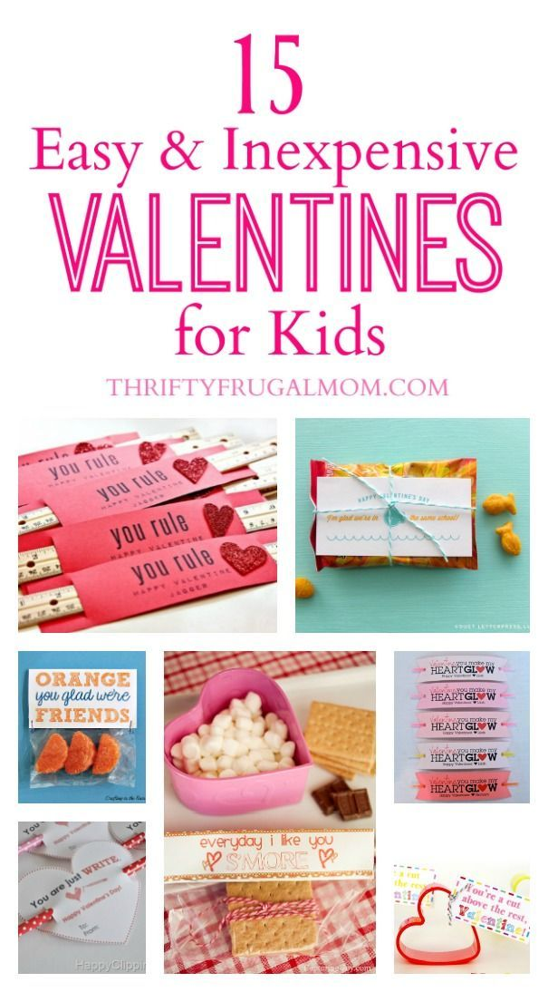 15 Easy Inexpensive Valentines For Kids Cheap Valentine Easy Kids Valentines Cheap Valentines Gifts