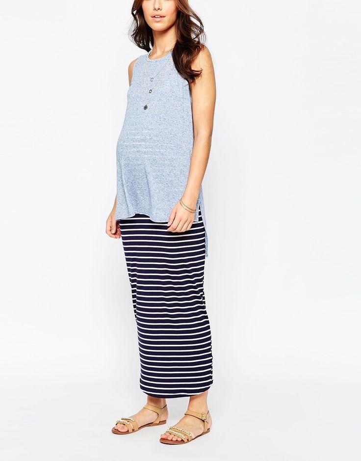 Image 4 - New Look Maternity - Maxi jupe rayée