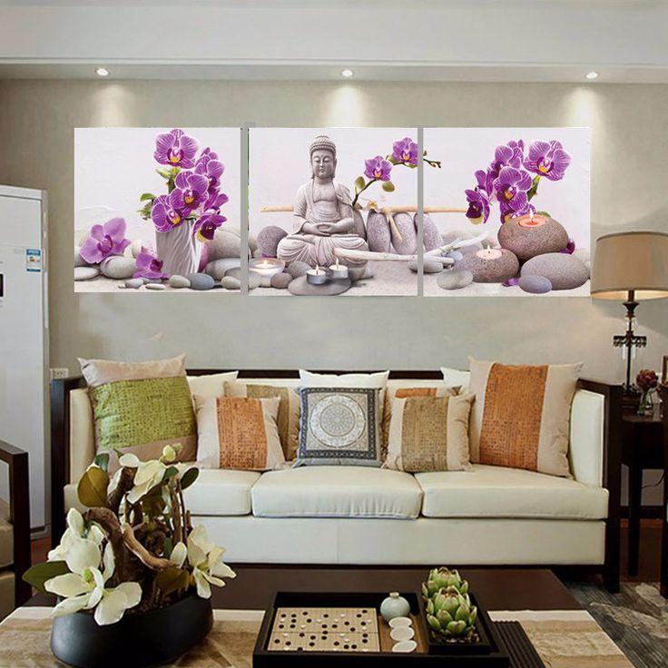 25 beste idee n over boeddha inrichting op pinterest boeddha slaapkamer hippie kamer decor - Schilderij in de kamer ...